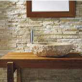 Elysia Vessel Bathroom Sink, Natural Granite