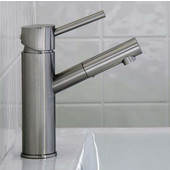 Noma Single Lever Bathroom Faucet, Brushed Nickel, Faucet Height: 7-3/4'', Spout Height: 5'', Spout Reach: 4-7/8''