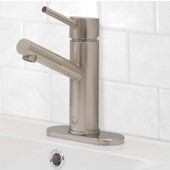 VG01009BNK1, Noma Single Lever Brushed Nickel Finish Faucet with Deck Plate