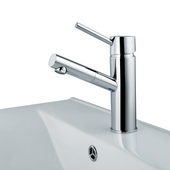 Noma Single Lever Bathroom Faucet, Chrome, Faucet Height: 7-3/4'', Spout Height: 5'', Spout Reach: 4-7/8''