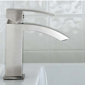 Satro Single Lever Faucet Brushed Nickel Finish