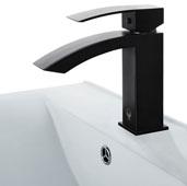 Satro Single Hole Bathroom Faucet in Matte Black, Faucet Height: 7'', Spout Height: 3-3/4'', Spout Reach: 4-7/8''