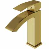 Satro Single Hole Bathroom Faucet In Matte Gold
