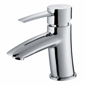 Single Handle Chrome Finish Faucet, Gooseneck Handle