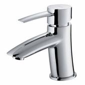 Single Handle Chrome Finish Faucet, Gooseneck Handle