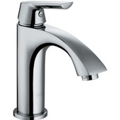 Penela Single Handle Chrome Finish Faucet, Wide Down Handle
