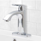 VG01028CHK1, Single Lever Chrome Finish Faucet with Deck Plate