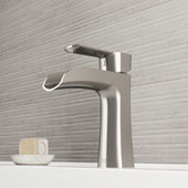 Paloma Single Hole Bathroom Faucet In Brushed Nickel