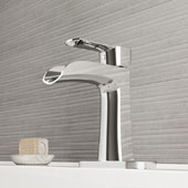 Paloma Single Hole Bathroom Faucet With Deck Plate In Chrome