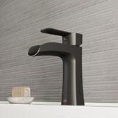Paloma Single Hole Bathroom Faucet In Matte Black