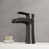 Paloma Single Hole Bathroom Faucet In Matte Black