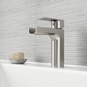 Ileana Single Hole Bathroom Faucet In Brushed Nickel