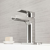 Ileana Single Hole Bathroom Faucet with Deck Plate in Chrome