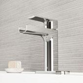 Ileana Single Hole Bathroom Faucet with Deck Plate in Chrome
