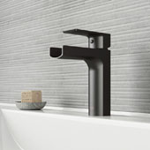 Ileana Single Hole Bathroom Faucet In Matte Black