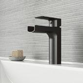 Ileana Single Hole Bathroom Faucet In Matte Black