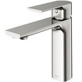 Davidson Single Hole Bathroom Faucet in Brushed Nickel, Faucet Height: 6-3/8'', Spout Height: 4-3/8'', Spout Reach: 5-1/4''