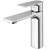 Davidson Single Hole Bathroom Faucet in Chrome, Faucet Height: 6-3/8'', Spout Height: 4-3/8'', Spout Reach: 5-1/4''