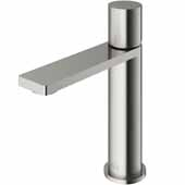 VIGO Halsey Single Hole Bathroom Faucet in Brushed Nickel, Faucet Height: 6-3/8'' Spout Height: 4-3/8'' Spout Reach: 5-1/4''