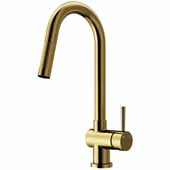 Gramercy Pull-Out Spray Kitchen Faucet in Matte Gold, Faucet Height: 17' Spout Reach: 7-7/8'