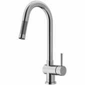 Gramercy Pull-Out Spray Kitchen Faucet in Stainless Steel, Faucet Height: 17' Spout Reach: 7-7/8'