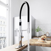 Norwood Magnetic Spray Kitchen Faucet With Deck Plate In Chrome