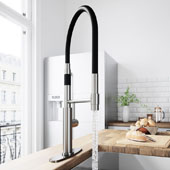 Norwood Magnetic Spray Kitchen Faucet With Deck Plate In Stainless Steel