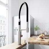 Norwood Magnetic Spray Kitchen Faucet With Soap Dispenser In Stainless Steel