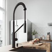 Livingston Magnetic Kitchen Faucet With Soap Dispenser In Matte Black