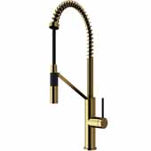Livingston Magnetic Kitchen Faucet in Matte Gold, Faucet Height: 23 1/2',  Spout Reach: 9 3/8'
