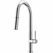 Greenwich Pull-Down Spray Kitchen Faucet in Chrome, Faucet Height: 18'', Spout Reach: 9-1/4''
