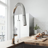 Greenwich Pull-Down Spray Kitchen Faucet With Soap Dispenser In Chrome