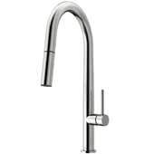 Greenwich Pull-Down Spray Kitchen Faucet in Stainless Steel, Faucet Height: 18', Spout Reach: 9 1/4'