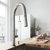 Greenwich Pull-Down Spray Kitchen Faucet With Soap Dispenser In Stainless Steel