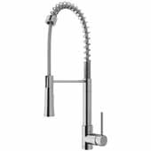 Laurelton Pull-Down Spray Kitchen Faucet In Stainless Steel, : Faucet Height 22-3/8'' , Spout Reach: 9-3/8''