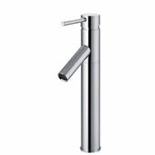 Dior Chrome Finish Bathroom Vessel Faucet, Down Handle