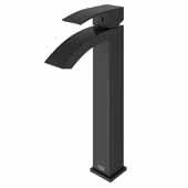 VIGO Duris Bathroom Vessel Faucet in Matte Black,  Faucet Height: 12'', Spout Height: 9'', Spout Reach: 4 7/8'