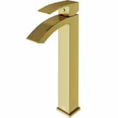 VIGO Duris Bathroom Vessel Faucet in Matte Gold,  Faucet Height: 12'', Spout Height: 9'', Spout Reach: 4 7/8'