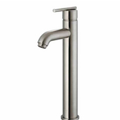 Brushed Nickel Finish Bathroom Vessel Faucet