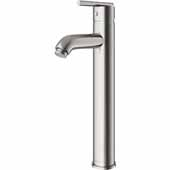 VIGO Seville Bathroom Vessel Faucet in Brushed Nickel, Faucet Height: 13', Spout Height: 9', Spout Reach: 4 3/4'