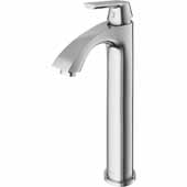 Linus Bathroom Faucet in Brushed Nickel, Faucet Height: 12-3/8', Spout Height: 8-3/8', Spout Reach: 5-1/8'