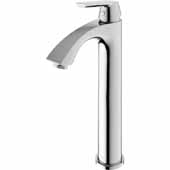 Linus Bathroom Faucet in Chrome, Faucet Height: 12-3/8', Spout Height: 8-3/8', Spout Reach: 5-1/8'