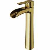 Niko Vessel Bathroom Faucet in Matte Gold, Spout Reach: 5-1/4'', Spout Height: 7-3/4'', Faucet Height: 10-1/2''