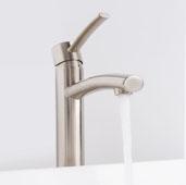 Milo Vessel Bathroom Faucet in PVD Brushed Nickel, Faucet Height: 12-1/2'', Spout Height: 9-1/2'', Spout Reach: 5''