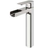 Amada Vessel Bathroom Faucet In Brushed Nickel