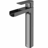 Amada Vessel Bathroom Faucet In Graphite Black, Faucet Height: 10-3/8' Spout Reach: 5-3/8' Spout Height: 8-1/8'