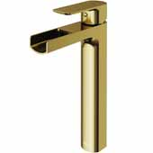 Amada Vessel Bathroom Faucet In Matte Gold, Faucet Height: 10-3/8'' Spout Reach: 5-3/8'' Spout Height: 8-1/8''