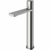 VIGO Gotham Vessel Bathroom Faucet in Brushed Nickel, Faucet Height: 10-3/4'' Spout Height: 8-5/8'' Spout Reach: 5-3/4''