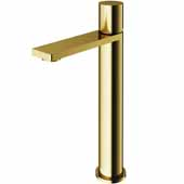 VIGO Gotham Vessel Bathroom Faucet in Matte Gold, Faucet Height: 10-3/4'' Spout Height: 8-5/8'' Spout Reach: 5-3/4''