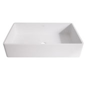 Magnolia Matte Stone Vessel Bathroom Sink in Matte White, 21-1/16'' W x 13-1/16'' D x 4-3/4'' H